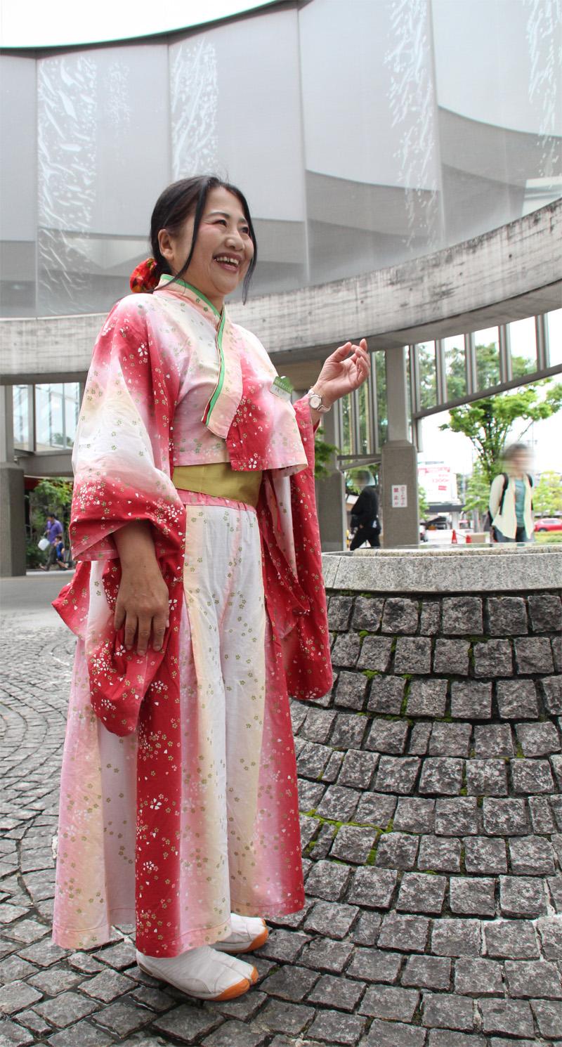 浄瑠璃姫に扮するCーちゃん